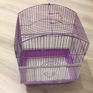 NWOT Parakeet / Small bird cage and skirt